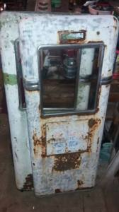 Photo of doors from salvaged vintage Bowser gas pump.