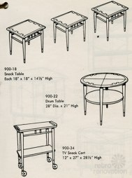 Image of a page from the Lane Acclaim Series catalog from the mid 1960's.