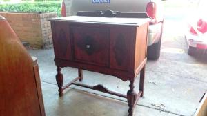 Photo of an antique sideboard.